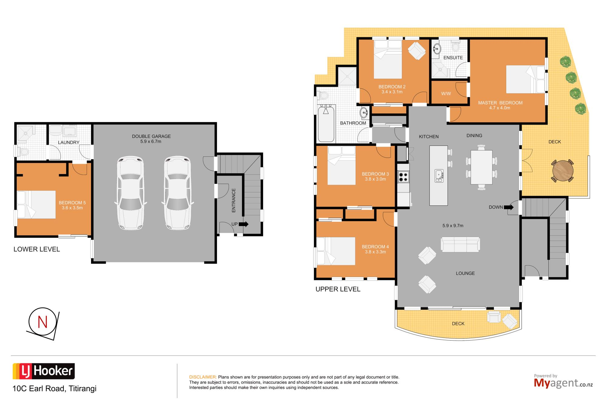 10C Earl Road Titirangiproperty floorplan image