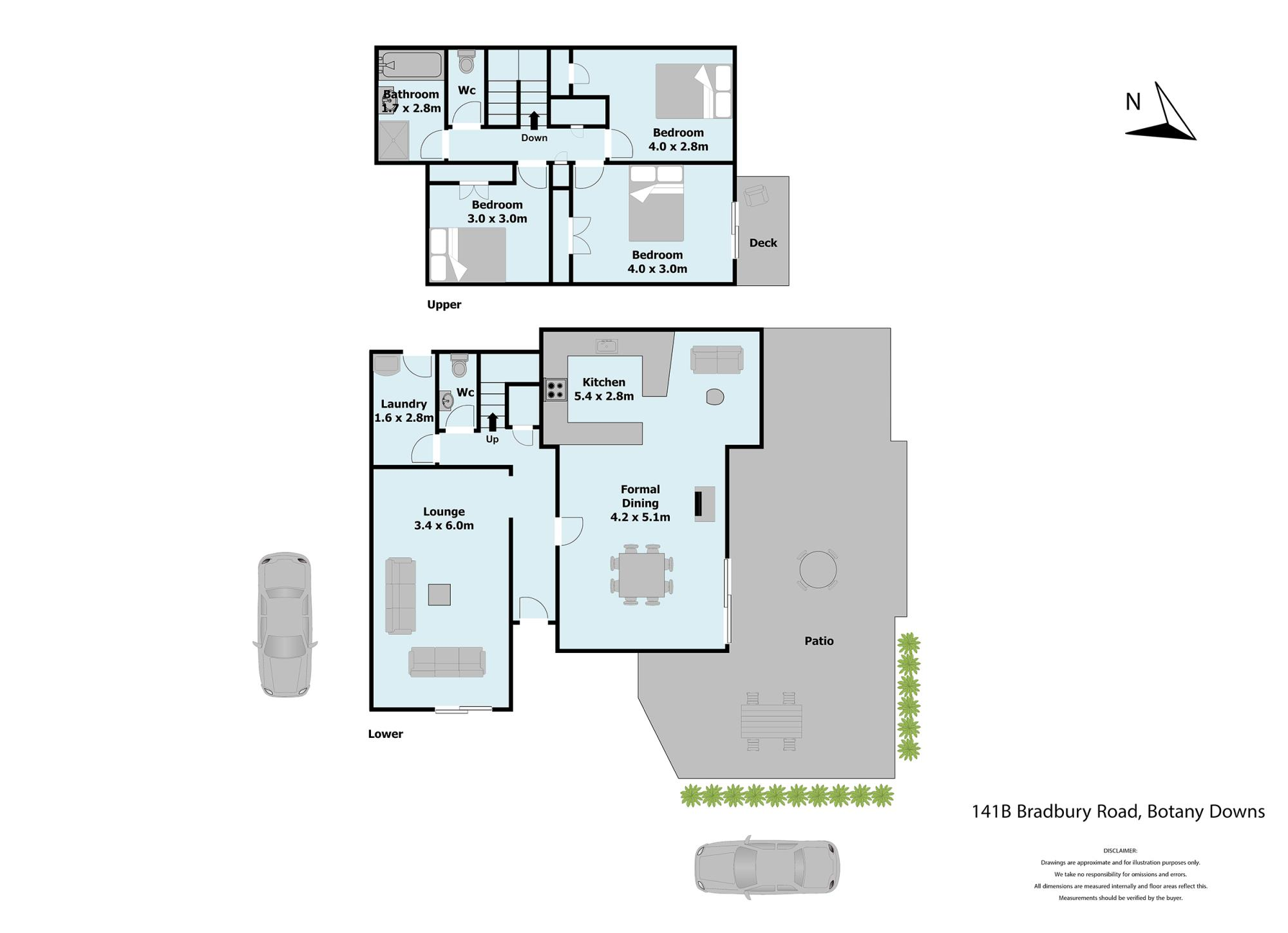 141-B Bradbury Road Botany Downsproperty floorplan image