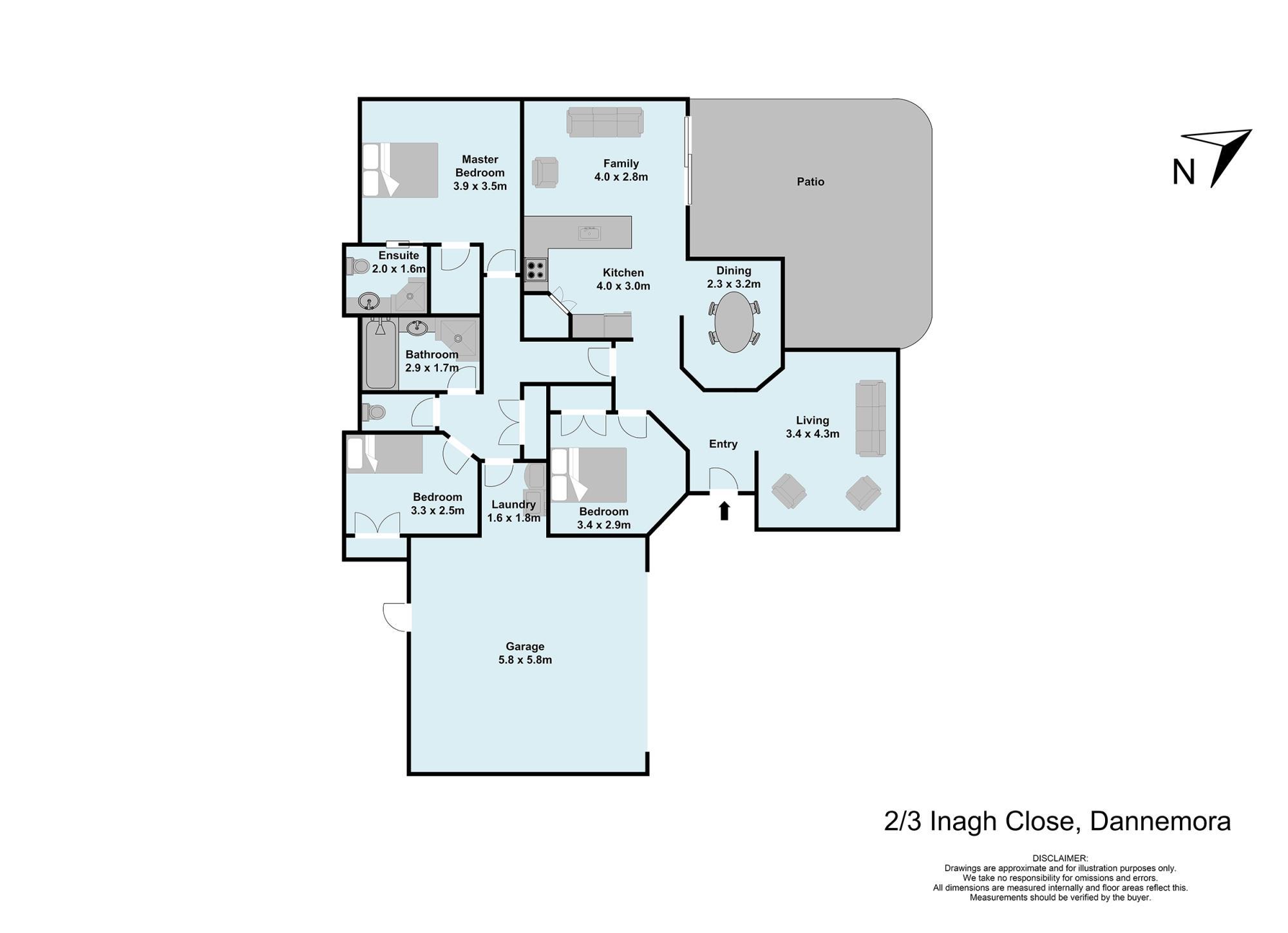 2/3 Inagh Close Dannemoraproperty floorplan image
